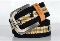 Free shipping  Men's canvas Belts Fashion men belt Multicolor choose Casual buckle male canvas cowskin belt
