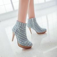 winter autumn booties plus size Eur 34-43 fashion women ankle cowboy boots female shoes woman high heels platform pumps SX140976