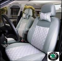 LBS 10 PCS Skoda 2013 fabia crystal sharp | Octavia | SUPERD | yeti  Emulation silk + sandwiches seat car cover