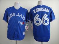 2014 new fashion Sportswear & Accessories mlb toronto blue jays 66 kawasaki - white, blue jerseys for men Baseball shirts