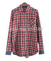FREE SHIPPING High quality Summer Blouse Casual 2014 Fall Fashion for Women plaid Shirt Women's Blusas femininas body clothing
