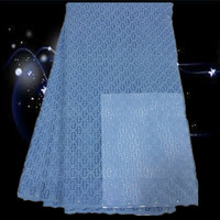 (5Y/lot)DLF2-3!Free shipping African dry cotton lace high quality  Lace Fabric very soft material,blue color!