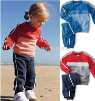 2014 New autumn children baby boy's girl's autumn spring 2pcs clothing set suit Pattern baby shirt + pants DJ322 children sets