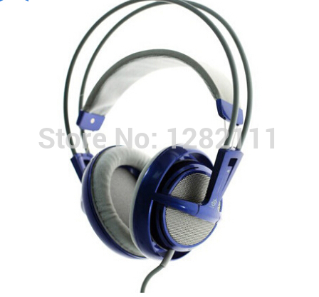 Genuine SteelSeries SIBERIA V1 Full Size Headset for PC Gamers with Mic headphone+wired remote+bag free shipping(China (Mainland))
