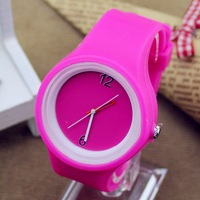 2014 New Unisex Wrist Watch 1 PCS Hot Fashion Jelly Watch Silicone Multicolor Sport Wristwatch Free Shipping 3178