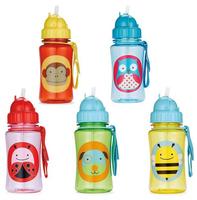 Ttritan Zoo Children's Water Bottles Safety baby cups kids Animal Straw Bottles Tour sports bottle SHD-1055