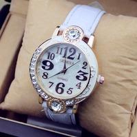 2014 new fashion women dress watch rose gold rhinestone belt big names wholesale
