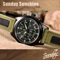 Holuns sapphire dial canvas strap quartz watch relogio masculino military pilot sports watches men luxury brand wristwatches