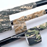 10rolls/lot 5cm x 4.5m Jungle Camo Wrap Hunting Camouflage Stealth Tape Kinesiology Sport Bandage Bike Camera Decor Outdoor Kit