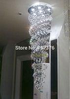 New Modern Double-Spiral Crystal Chandelier Lighting Fixture