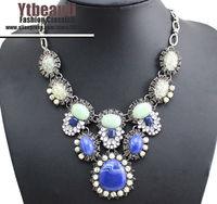 [Mix 15USD] Fashion Luxury Lazurite Blue Big Bubble Lariat Chocker Necklace womens Coutume jewelry