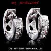 Small Hoop Earring 5 Austrian Crystal SWA Elements 925 Sterling Silver Material Elegant Eerring free shipping earrings for women