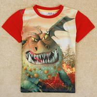 NOVA Kids How to Train Your Dragon boy short sleeve 3 d printing C5050Y#