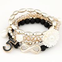 New Arrival Bohemia Style Beads Infinity Flower Multipack Charm Bracelet & Bangle Fashion Women Bracelet Accessories Wholesale