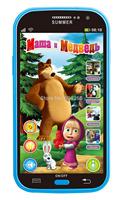 Talking masha and bear education phone toy russian language learning machine baby toys electronic toys 2014 free shipping