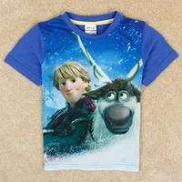 NOVA children's clothing Frozen boy short sleeve 3 d printing C5026Y#