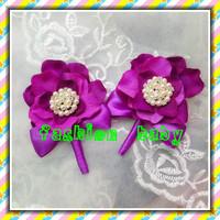 luxury custom high quality rhinestone crystal bridalgroom and bridal corsage