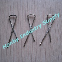 300PCS/LOT High Quantity Stainless steel 33mm X Shape Garment Clip With Free Shipping By TNT or DHL