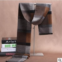 Free shipping 2014  The newest 100% mulberry silk scarf for men of high-grade silk