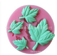 1pcs/lot,Silicone mold, double sugar cake tools, clay clay soaps four maple leaf mould,Free shipping