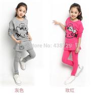 Freeshipping HOT 2014 autumn new Korean version children suit,girl cat two-piece suit fashion long sleeve suit