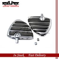 BJ-FP312-G Chrome Motorcycle Custom Aluminum Rear Foot Rest Pegs