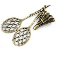 2014 Latest Korean Fashion Retro 6PCS Sweater Necklace with Badminton Shape MYL351
