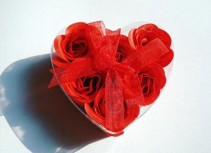 Wedding Favors 30piece /lot -Rose flower Which is made of Soap,Valentines And Party Gifts(China (Mainland))