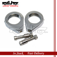 BJ-SL299-002 motorcycle parts Chrome Aluminum Signal Relocation Clamps for har-ley models with 39mm Fork tubes