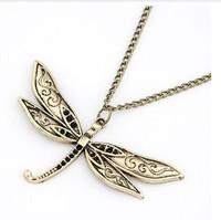 2014 Latest Korean Fashion Retro Sweater Necklace  with Dragonfly Shape MYL079