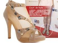 SALE free shipping fahion high heeled shoes rhinestone sandals single shoes