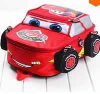2014 cars lightening toys double-shoulder baby children kids kindergarten boys cartoon backpack school bag on sale