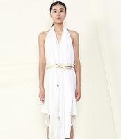 JNBY women new knitted cotton sleeveless long dress 5C25T08 full dress one piece dress