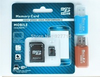 2pcs Free shipping high speed 64GB Class10 Micro SD TF Memory Card with Adapter Retail Package Flash Cards +USB 2.0 adapter
