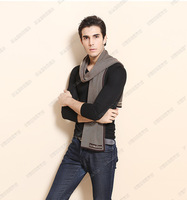 2 pcs/lot Free shipping 2014  The newest wool  scarf for men of high-grade silk
