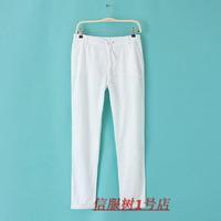 High Quality Plus Size Women's Cotton Linen Casual Straight Pants