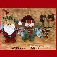 "R3-3pcs/lot 6"" Christmas Tree Ornaments Santa Gifts Xmas Decoration Santa Claus Deer Snowman Dolls Puppet Dropshipping"