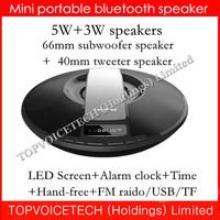 Nizhi SDY-021 HIFI Bluetooth Speaker Sardine FM Radio wireless USB Amplifier Stereo Sound Box LED screen Clock,Time,3000mah