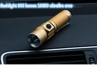 2014 New arrive led high-quality mini gold flashlight 800 lumen 18650 ultrafire cree penlight lantern