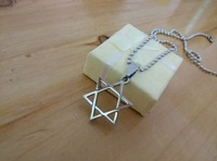 Star of David pendant, stainless steel jewelry classic design