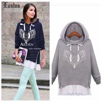 Lanluu Hot Sale 2014 Autumn and Winter Women Hoodies Coat Casual Loose Women Sweatshirts NM390