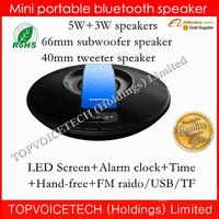 Nizhi SDY-021 mini Bluetooth Speaker ,wireless subwoofer tweeter speaker, LED screen Clock,Time,3000mah,freeshipping