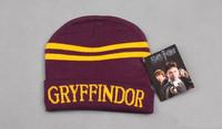 Harry Potter Gryffindor/Slytherin/ravenclaw/Hufflepuff Thicken new Wool Knit Hat Cap Set Warm Winter