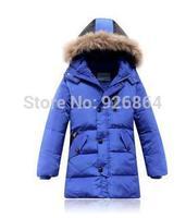 2014 Children's down jacket boys down jacket long section of genuine baby boy down jacket big boys dress clothing set