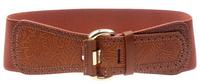 Woman Solid Elastic Cummerbund Elegant Wide belt for female Adjustable Brown Brand new Cintos Cinturon N266 Hot sales