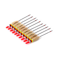 big promotion good fish tackle 10pcs/set 5g 15.5cm wooden BLASA fishing floats bobber for fishing high quality fishing light