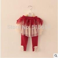 wholesale High quality,2014 New Autumn brand  Korean baby girls chiffon+lace leggings,tutu ruffles skirt 2-7yrs children bottoms