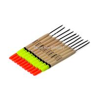 yellow smart 10pcs/set 5g 19cm wooden balsa fishing floats bobber pesca tackle for fishing high quality new fishing light stick
