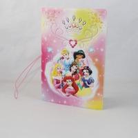 "Cute Beautiful 3D Princesses Cartoon PU Travel Passport Holder Cover,5.3""x3.7"""