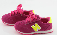 2014 new fall shoes letter suede leather Velcro sports shoes wholesale Korea